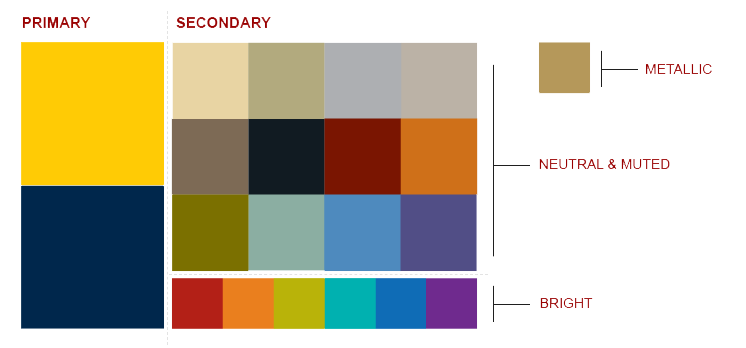 Secondary palette  supporting colors