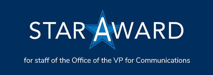 Star Award for for staff of the Office of the VP for Communications